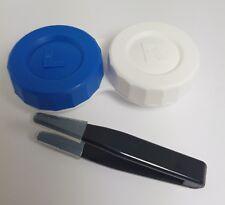 1 x lente a contatto Custodia e 5 CM Nero Lente Pinzette-alta qualità