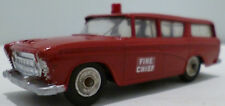 Dinky Toys 257 Nash Rambler Fire Chief Car Red Repainted Unboxed Diecast Model