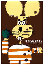 Movie Poster 4 film Los valientes.Braves.Mouse.Child Room home art decor design