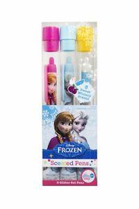 Disney Frozen Scented Glitter Gel Pens - Rock Candy, Suger Plum, Marshmallow