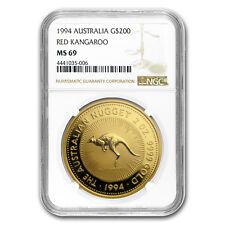 1994 Australia 2 oz Gold Nugget NGC MS-69 - SKU #152849