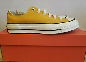 NEW IN THE BOX CONVERSE  CHUCK 70 LOW TOP SUNFLOWER 162063C  SHOES FOR MEN