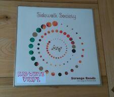 RARE Fruits De Mer Sidewalk Society Strange Roads Red/White Vinyl LP Mod Psych