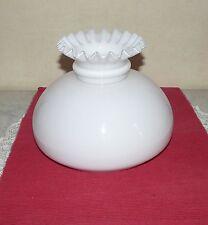 Abat jour opaline,verre,lustre, lampe pétrole, lampe électrique 208 mm  N°300