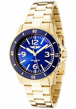 89051-006I I By Invicta Women's 18k Gold-Plated Stainless Steel Blue-Dial Watch