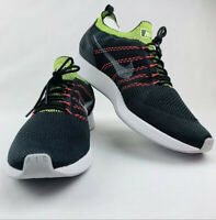 New Nike Air Zoom Mariah Flyknit Racer Mens Size 12 Running Black Wolf Grey Volt