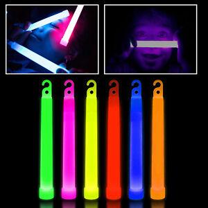 """6"""" Glow Sticks Bracelets Necklaces Neon Colours Party Favors Rave Disco Color"""