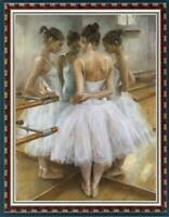"Hand painted Oil painting original Art Portrait ballet girl on canvas 24""x36"""