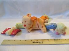 Hanging Car Seat Crib Plush Chimes Rattle Toy Infant Tiger Lamb Butterfly Turtle