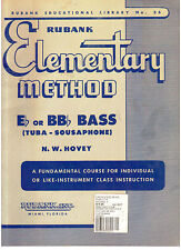 Rubank Elementary Method for Eb or BBb Bass, (Tuba), By N.W. Hovey,  NEW