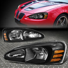 For 04-08 Pontiac Grand Prix Black Housing Amber Corner Headlight Head Lamps