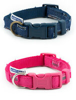 Ancol Indulgence Pink & Blue Patchwork Adjustable Nylon Dog Puppy Collar