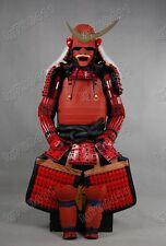 Red Collected Iron & Silk Japanese Art Samurai Armor wearable Suit