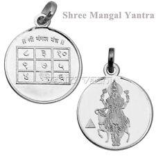 Mars Planet Pendant Mangal Yantra Locket in 999 Sterling Silver - Vedic Vaani