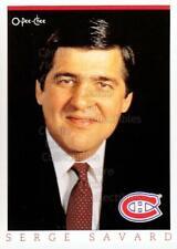 1993 O-Pee-Chee Montreal Canadiens Hockey Fest #11 Serge Savard