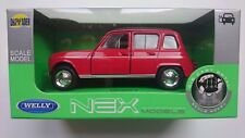 WELLY RENAULT 4 RED 1:34 DIE CAST METAL MODEL NEW IN BOX