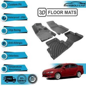 3D Molded Interior Car Floor Mat for Mitsubishi Lancer 2008-UP(Black)