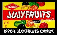 "VINTAGE 1970's JUJYFRUITS CANDY BOX Photo MAGNET 4x2.5"" thin-flexible"