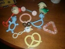 Vintage Baby Rattles, Toys, Teether, Squeaker Cute!