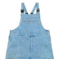 90s Vintage Denim Dungarees | Overalls Bib Jeans Retro Wash Acid Faded