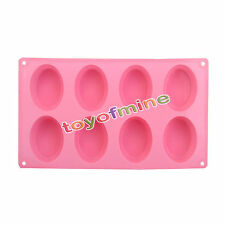 Cake Mold, Soap Mold 8-Oval Shape Mold Silicone Mould For Candy Chocolate