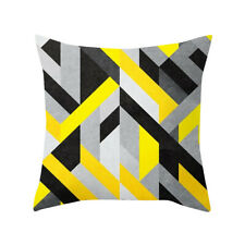 Yellow Polyester Pillow Case Waist Throw Cushion Cover Home Car Decoration US