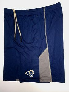 LOS ANGELES RAMS TEAM NFL MENS  PERFORMANCE SHORTS DRI FIT WORKOUT NEW