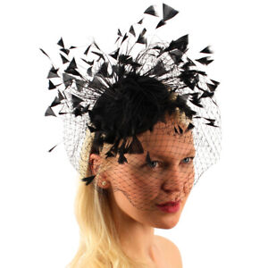 Black wedding hat black Fascinator Fascinators hat derby noir midnight hatinator funeral hat black Fascinator hat Fascinator hat