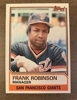 1983 TOPPS FRANK ROBINSON Manager #576 - SAN FRANCISCO GIANTS MLB BASEBALL CARD
