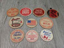 Vintage Milk Caps Plain View Farm Jenera Ohio Lot Of 10 Milk Bottle Caps