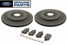 For Ford Lincoln Pair Set of Rear Left & Right Brake Disc Rotors w/ Pads Genuine