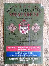 Etichetta vino Corvo - annata 1968 - Duca di Salaparuta - Casteldaccia (Palermo)