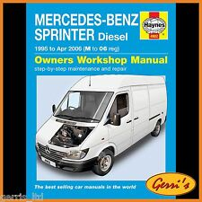 4902 Haynes Mercedes-Benz Sprinter Diesel (1995 - Apr 2006) Workshop Manual