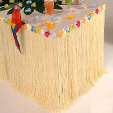 9Ft Hawaiian Luau Colorful Flower Grass Beach Party Table Skirt Cover Decoration