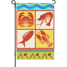 "Seafood Feast Garden Size Flag (12"" x 18"" Approx).3.Pr 51647"