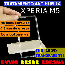 FUNDA TPU DE GEL SILICONA TRANSPARENTE PARA SONY XPERIA M5 CARCASA PLASTICO