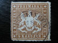 WURTTEMBERG GERMAN STATES Mi. #33 scarce VF used stamp! CV $120.00