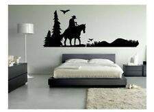 50 Inch Man on Horse Western Scene Vinyl Decal Sticker Wall Decor Country Living