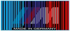 BMW Made in Germany Barcode Sticker Decal Calcomania Euro
