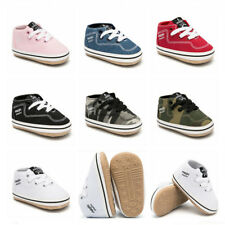 Infant Toddler First Step Newborn Baby Boy Girl Pram Shoes Rubber Soles Kid GIFT