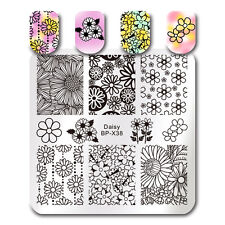 Daisy Floral Image Nail Stamping Template  Stamp Plate DIY Born Pretty