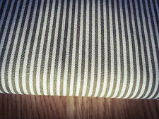 Shabby Chic Brown Stripes 100% Cotton Fabric. Price per 1/2 meter