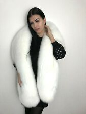 Real Pure white fox fur stole wrap. Extra large.