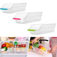 Shelf Storage Rack Kitchen Refrigerator Space Saver Organizer Slide Holder Box Z