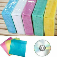 100 x CD DVD Double Sided Cover Storage Case Plastic Bag 2 Protector Sleeve Best
