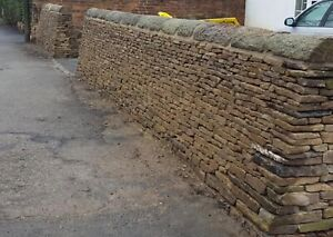 NEW DRY STONE WALLING in tonne bags approx 3-3.5 square meters of facing a bag.