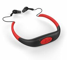 IPX8 Waterproof Sports MP3 Player Neckband FM Radio Swimming Headphones 4GB