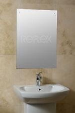 Frameless Bathroom Bedroom Drilled Hole Mirror