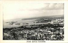 mauritius, PORT LOUIS, Panorama with Harbour (1960) RPPC