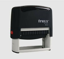 Custom Self Inking Rubber Stamp Traxx 9013 4 lines  USA SELLER